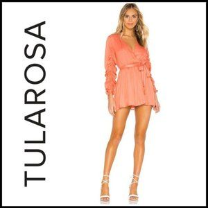 NWOT TULAROSA Tawney Mini Dress w/Ruched Sleeve M